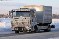 Daimler AG is testing updated Atego and Econic trucks