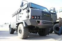 KrAZ showcased for its workers a cabover MRAP