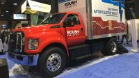 Roush CleanTech showcased the electric Ford F650