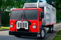 Peterbilt showcased a new refuse truck Model 520