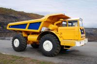 BelAZ presents a new dump truck MOAZ 75050 with Scania diesel engine
